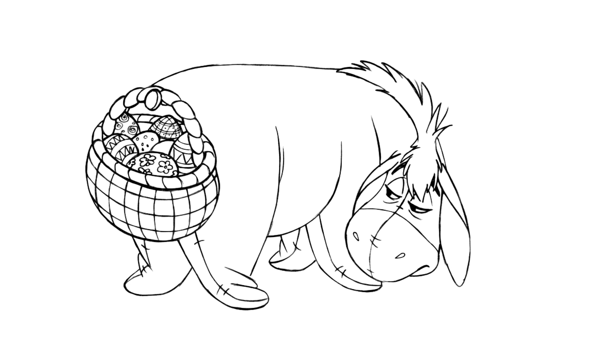 winnie the pooh coloring pages and easter egg decorating ideas