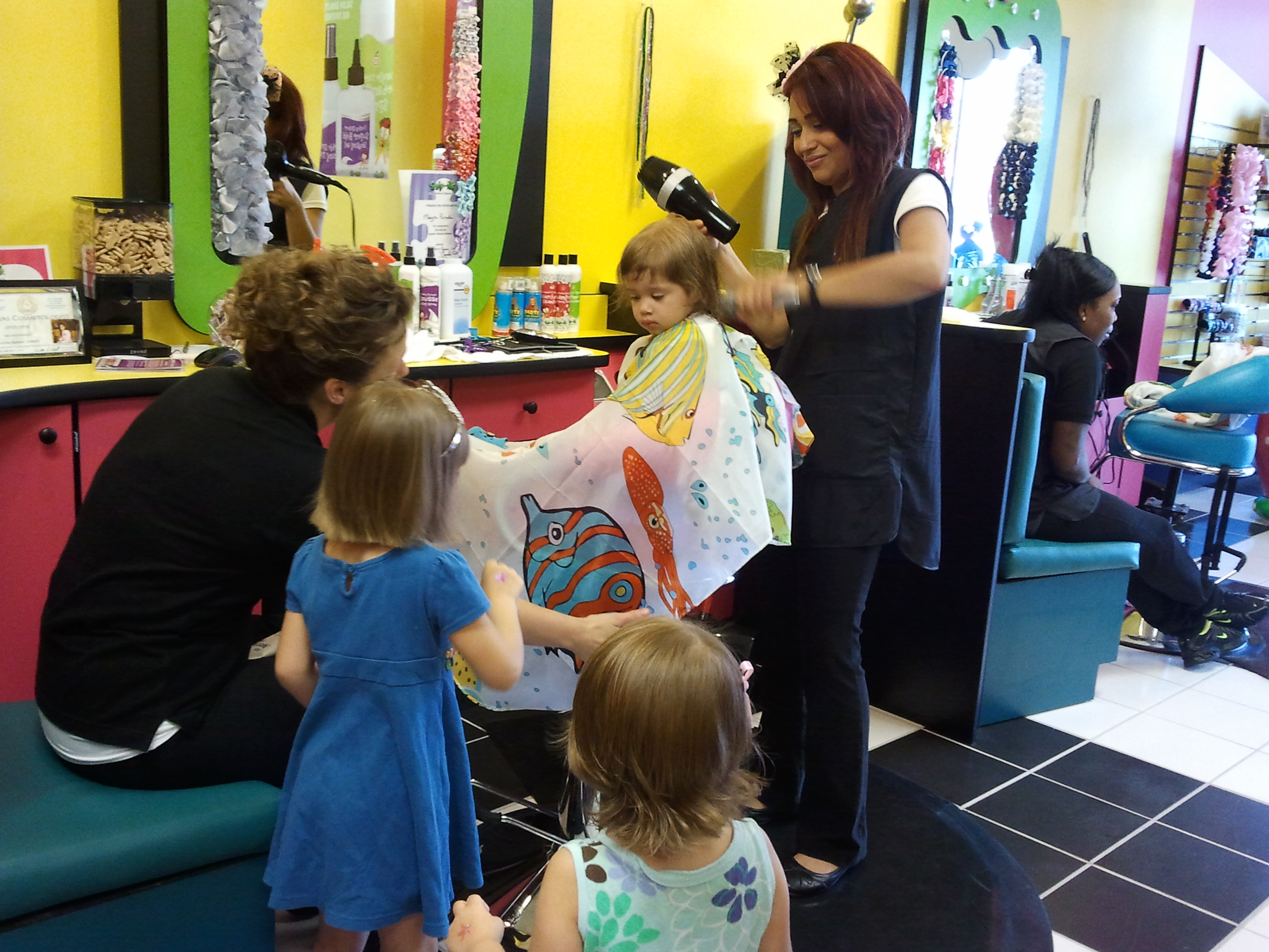 Its is a fun, whimsical, child themed hair salon and spa just for kids ...