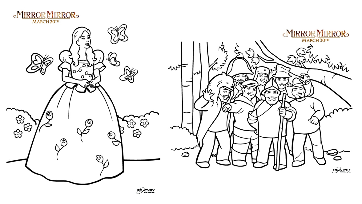 MIRROR MIRROR Coloring Pages Movie Sweepstakes