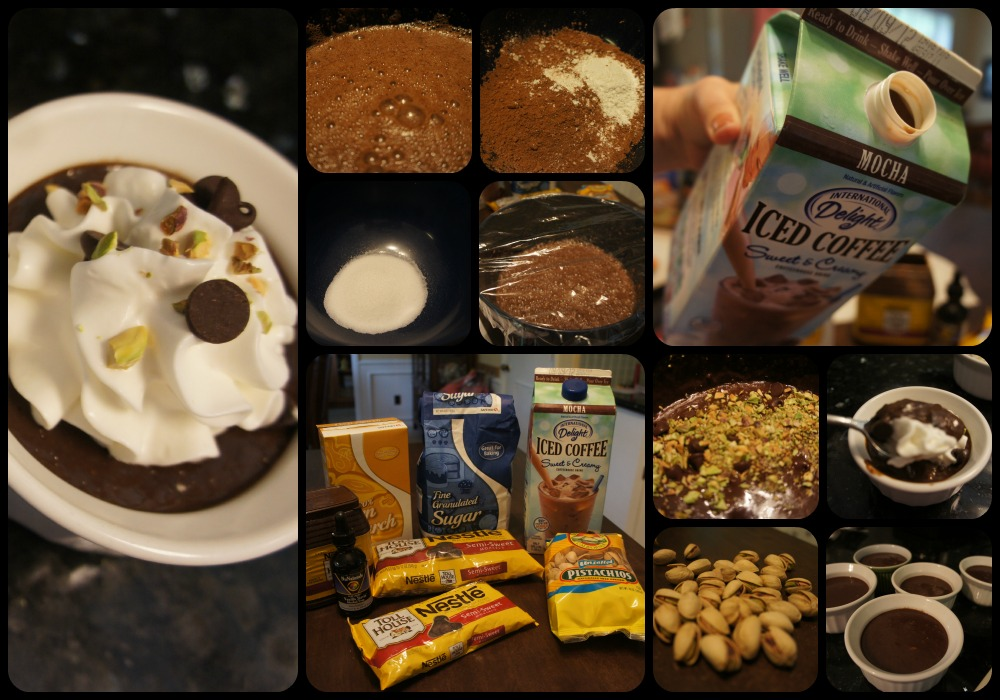 Mocha Pistachio Hasty Chocolate Pudding #IcedDelight