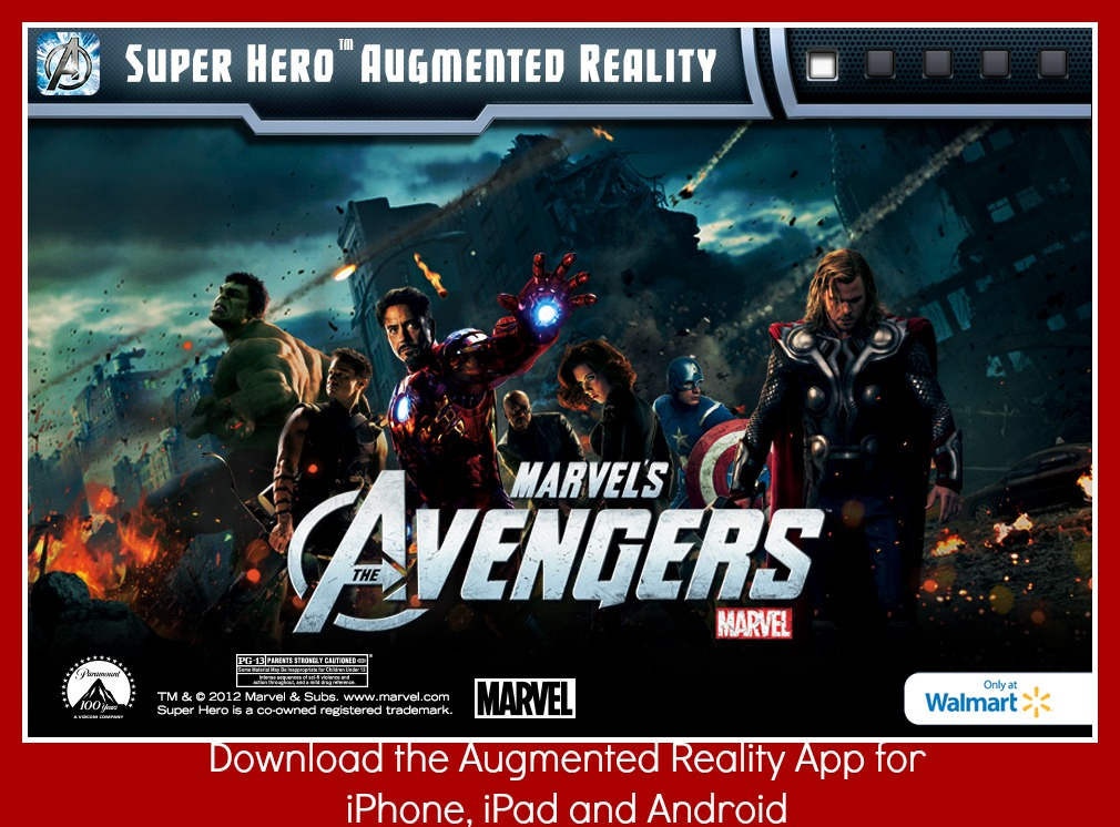 The Avengers Augmented Reality App at Walmart #MarvelsAvengersWMT