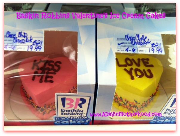 Baskin Robbins Valentine's Cakes