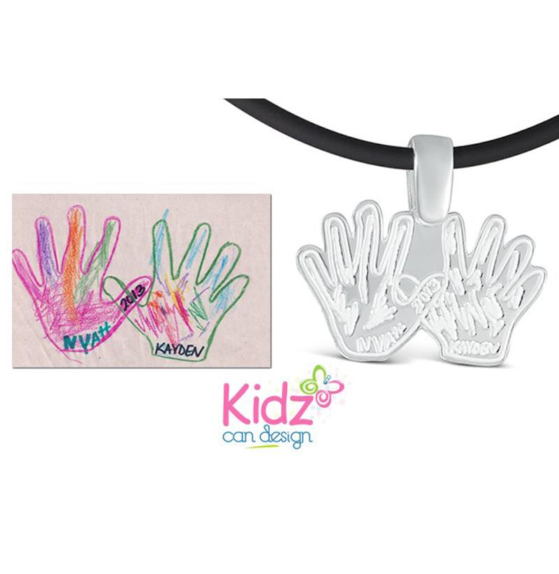 WIN a Custom - SO AWESOME - Pendant Designed by Your Kids from Kidz Can Designs
