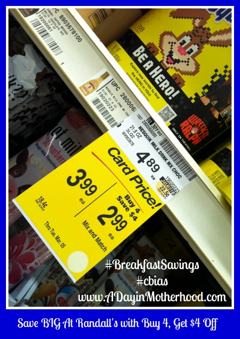Randall's Buy 4 Save $4 Deal #BreakfastSavings #cbias