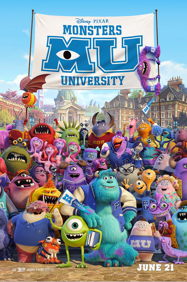 Monsters Univeristy by Disney Pixar Announces Release for June 21, 2013!!