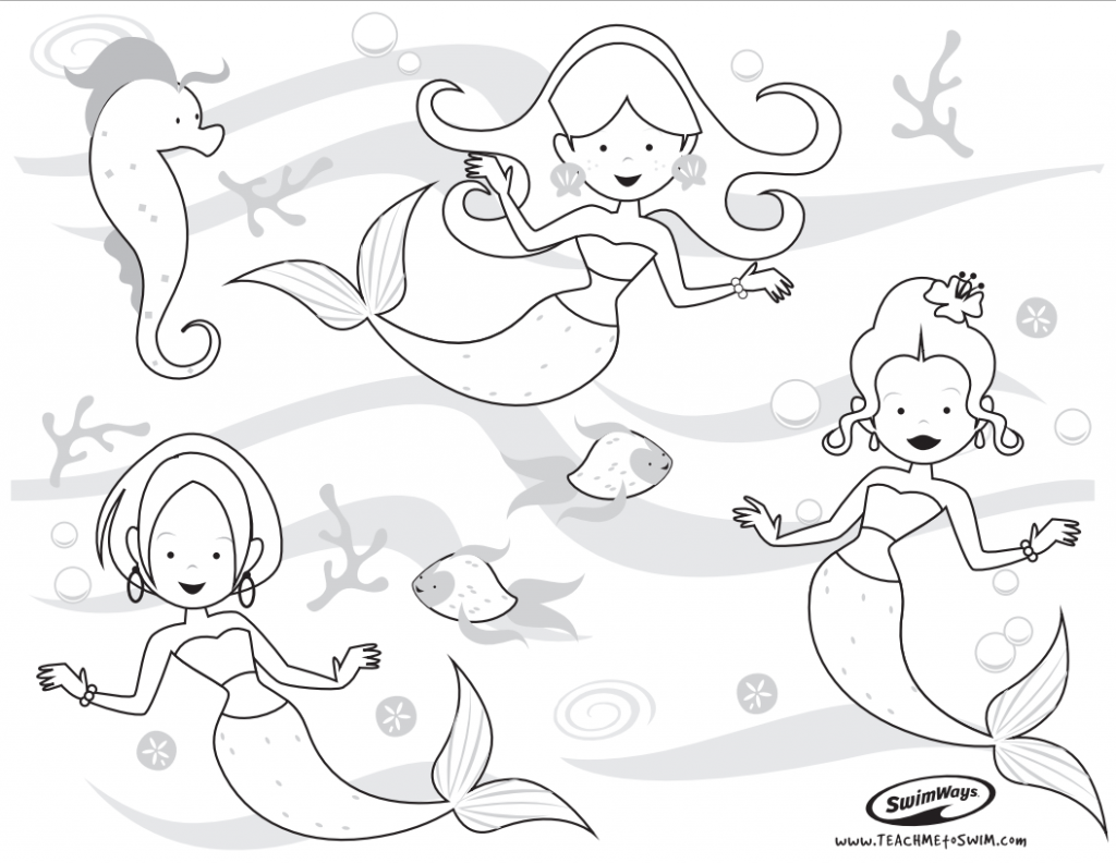 swimming kids coloring pages - photo#28