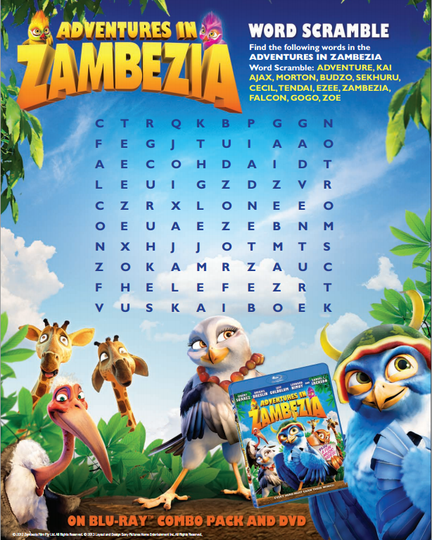 Adventures of Zambezia Activity Pack
