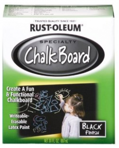 Cheap Chalkboard Idea that Kids Will LOVE!! Rust-Oleum 206540 Chalkboard Brush-On