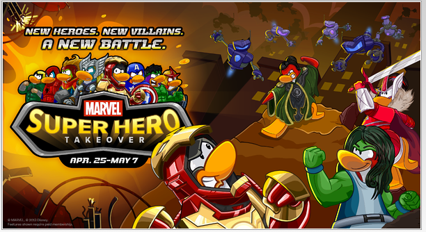 Disneys Club Penguin Members Suit Up as Marvel Super Heroes and Super Villains!!
