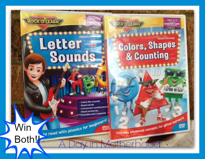 Rock N Learn Letter Sounds DVD & Colors Shapes & Counting