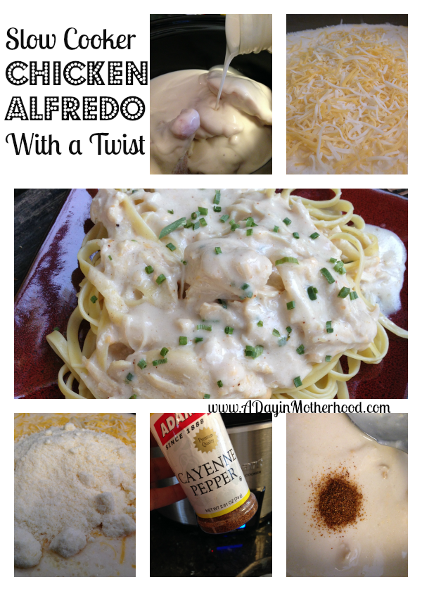 Slow Cooker Chicken Alfredo... With a Twist