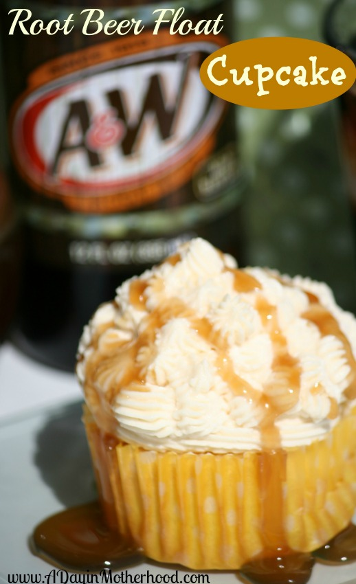 Root Beer Float Cupcakes with Homemade Root Beer Sauce