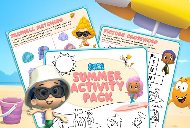 bubble guppies summertime activity pack - Bubble Guppies Coloring Pages Goby