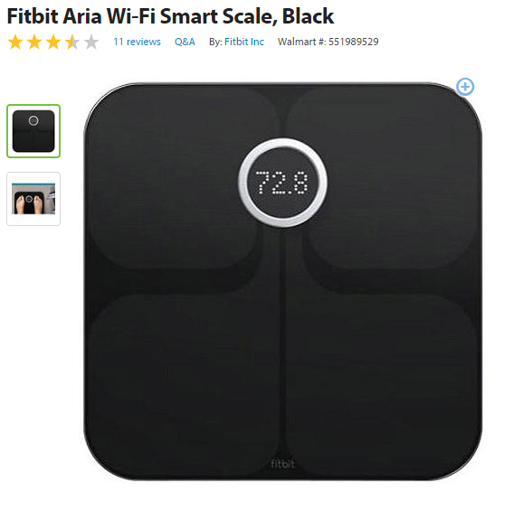 how to set weight goal on fitbit