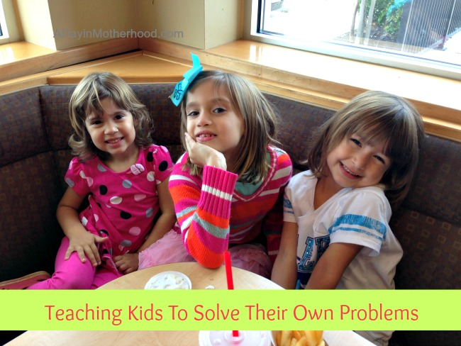 Teaching Kids To Solve Their Own Problems