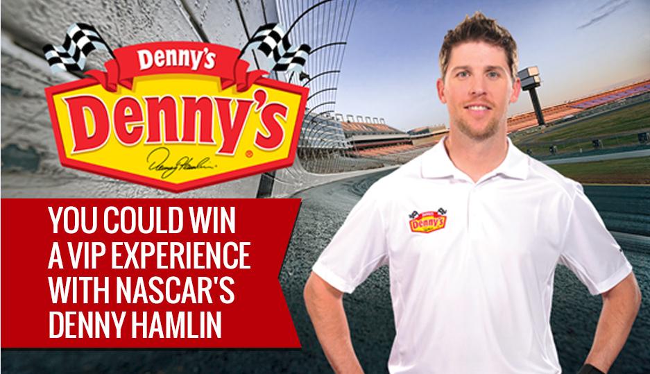 NASCAR Star Denny Hamlin Rocks Denny's & WIN a VIP Experience #DennysDiners #ad