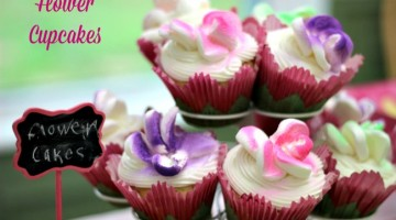 How to Make Flower Cupcakes and Magical Fairy Wands for a Tinker Bell and the Legend of the NeverBeast Party #TinkandNeverbeast #ad