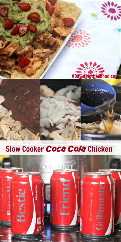 Slow Cooker Coca Cola Chicken Nachos  #ShareItForward #ad