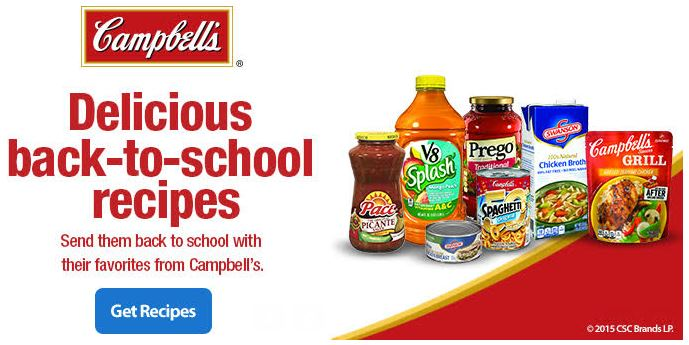 Campbell's Back to School Deal Make Dinner Easy #CampbellsSaving AD