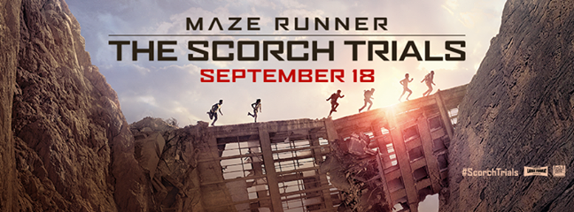 WIN a Maze Runner: The Scorch Trials Prize Pack ad