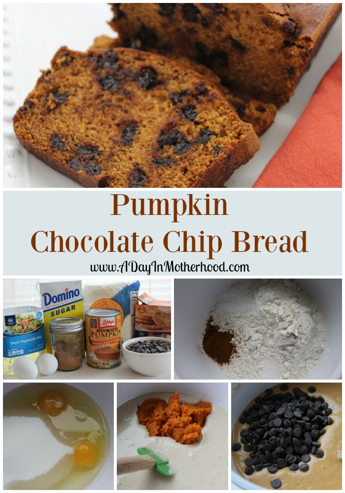 ... going to invite me over to share some Pumpkin Chocolate Chip Bread