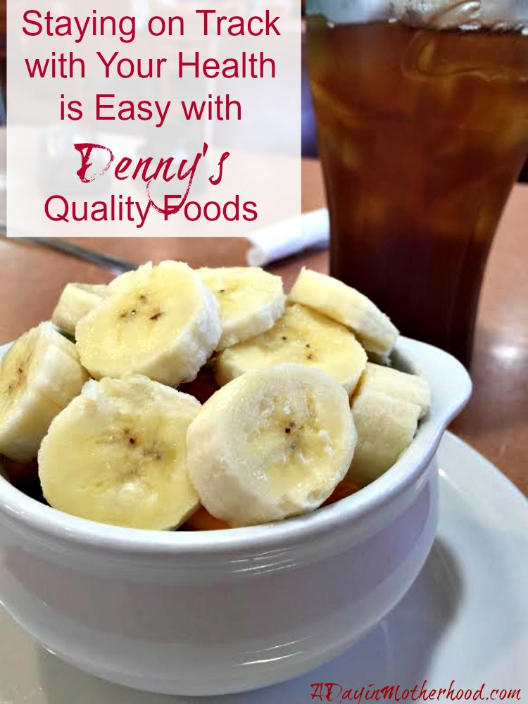 Staying on Track with Your Health is Easy with Denny's Quality Foods ad