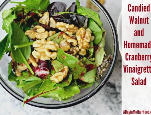 Candied Walnut and Homemade Cranberry Vinaigrette Salad