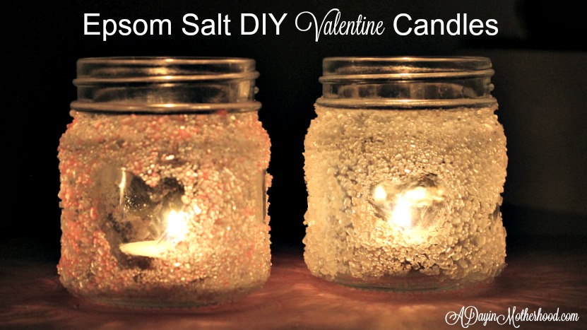 Epsom Salt DIY Valentine Candles