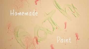 Homemade Bath Paint is Perfect to Reuse Pump Shampoo Bottles