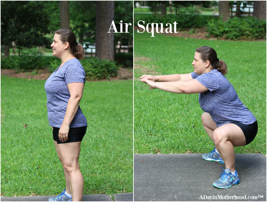 The air squat is a fundamental move that works your legs and core. Do it right and combine it with other moves to make your body work! #easbrand #PowerinProtein #collectivebias @Walmart