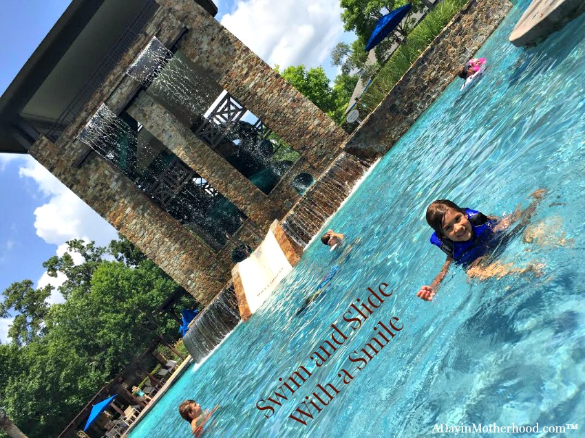 The huge water slide anchors the fun at the Woodlands Resort. #WoodlandsResort ad