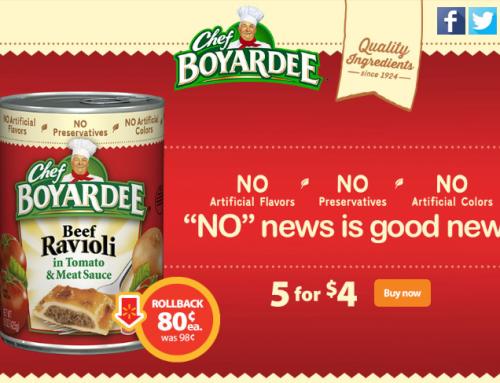 DEAL: Chef Boyardee is on Rollback for $.80