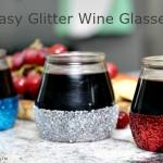 Easy Glitter Wine Glasses Tutorial
