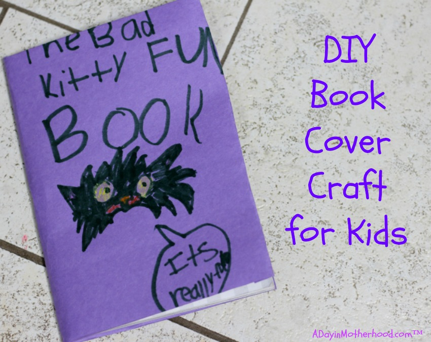 Book Cover Craft Cover : Diy book cover craft for kids get free books