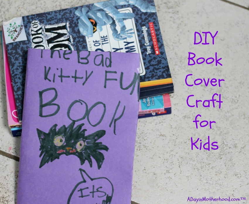 Book Cover Craft Quest : Diy book cover craft for kids get free books
