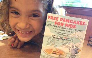 Free pancakes for kids at Denny's all September!