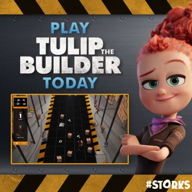 Play the Builder game from STORKS! #Storks ad