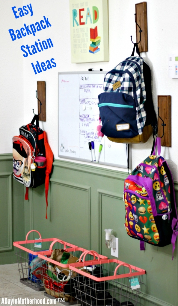 Easy Backpack Station ideas plus do the #40Pounds Challenge