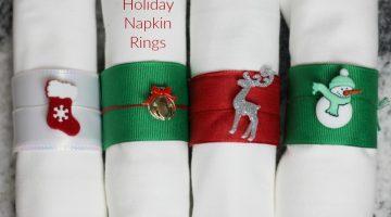 DIY Holiday Napkin Rings Tutorial