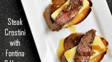 Steak Crostini with Fontina & Honey Recipe