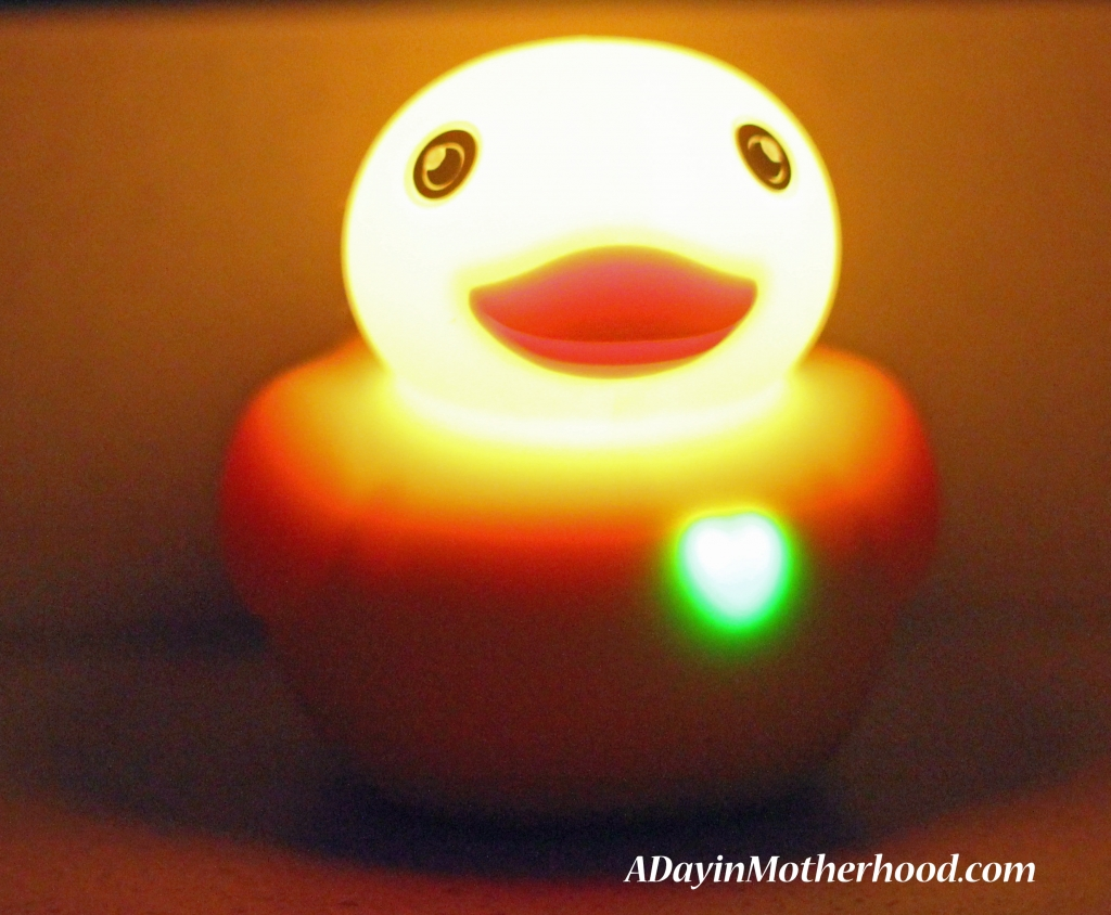 Edwin the Duck lights up when you pop his wings
