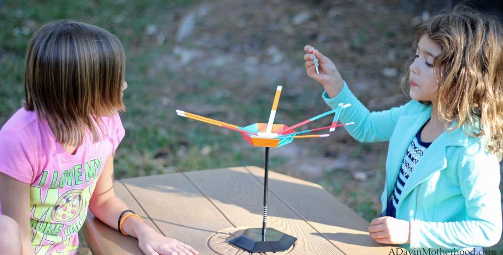 The kids liked Boulder Burst and Stick Stack