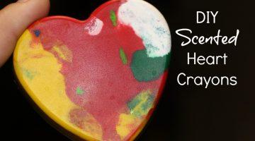 DIY Scented Heart Crayons