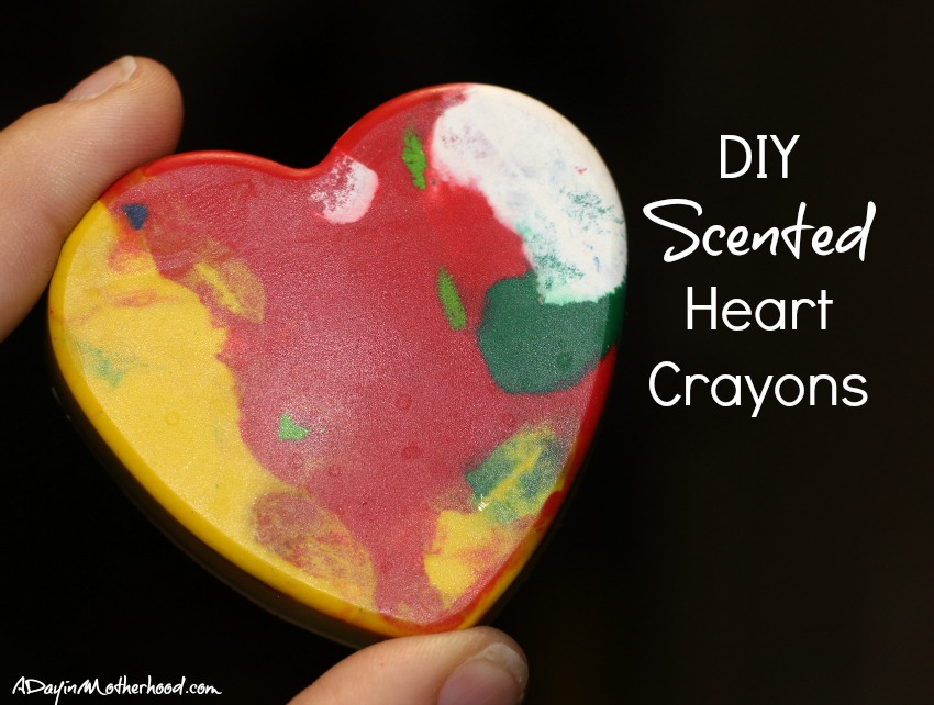These DIY Scented Heart Crayons are easy to make