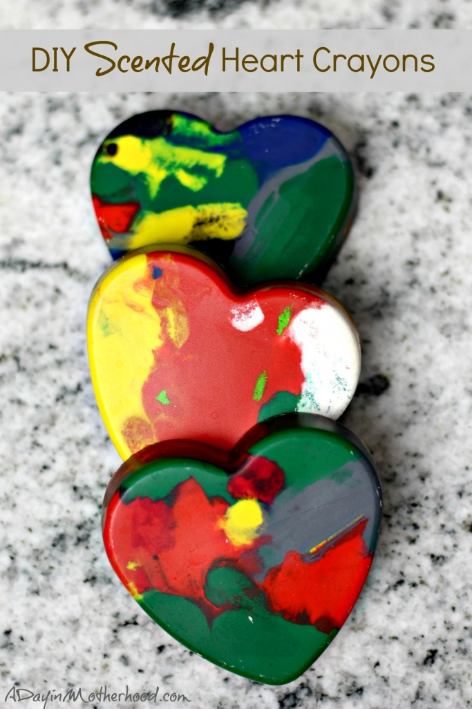 These DIY Scented Heart Crayons are as easy as baking and freezing