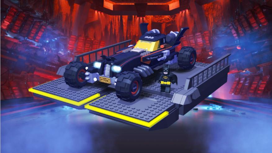 Build a batmobile for the Lego Batman movie
