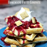 Cereal Waffles with Homemade Fruit Compote Recipe