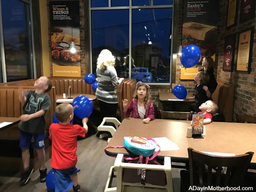 Let the kids have fun at Zaxby's Restaurant