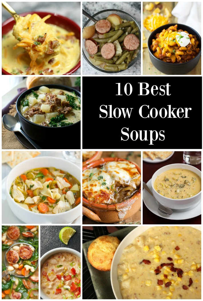 Warm up to one of these 10 Best Slow Cooker Soup recipes.