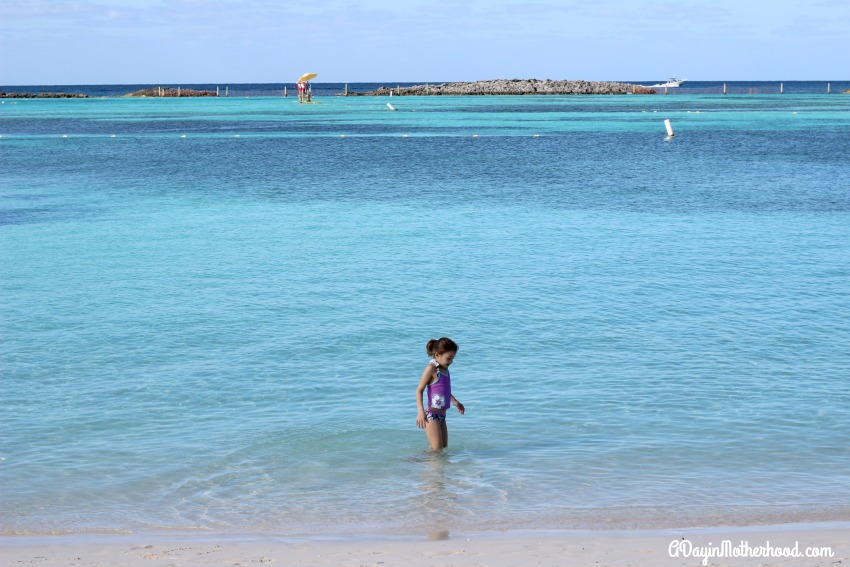 Castaway Cay has crystal blue water